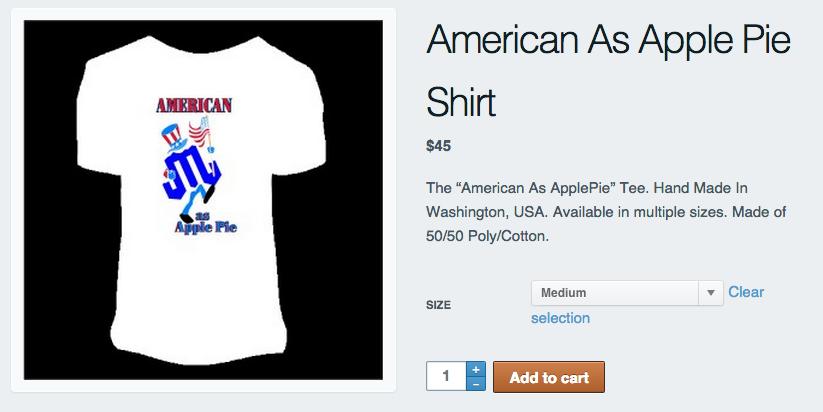 mountain junkie american as apple pie shirt