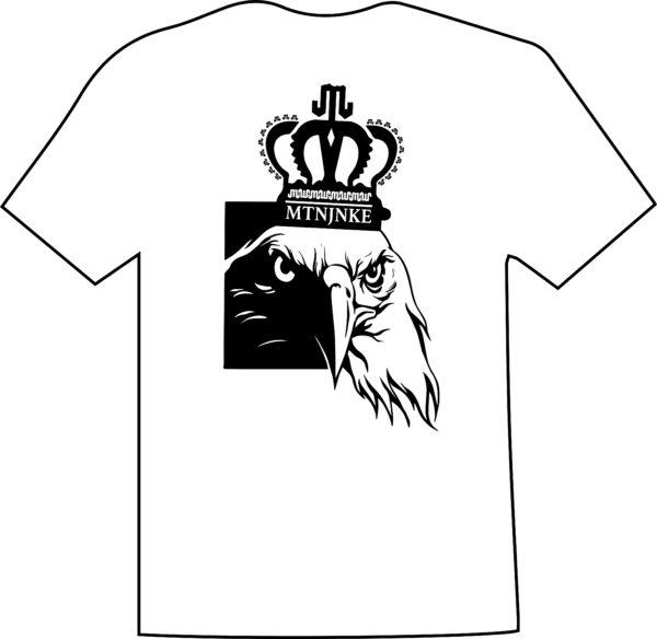 Eagle White Black T Mountain Junkie
