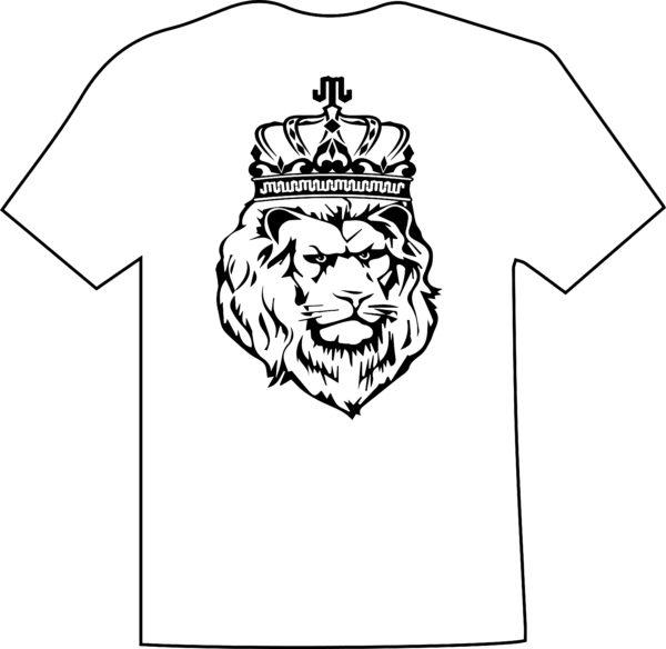Lion Black White T Mountain Junkie