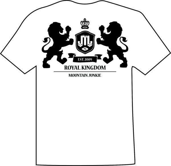 Lion Crest White Black T Mountain Junkie