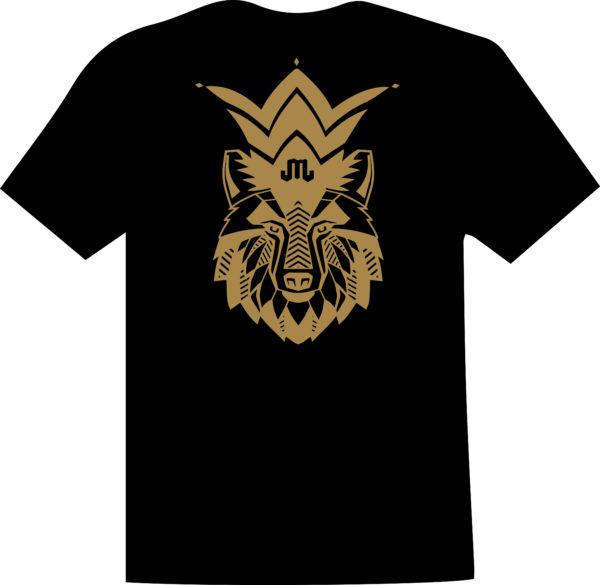 Wolf Black Gold T Mountain Junkie