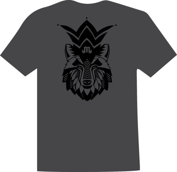 Wolf Charcoal Black T Mountain Junkie