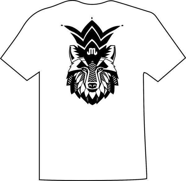Wolf White Black T Mountain Junkie